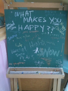 What Makes YOU Happy Chalkboard