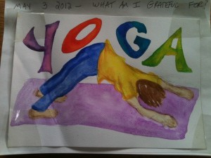Gratitude journal.YOGA