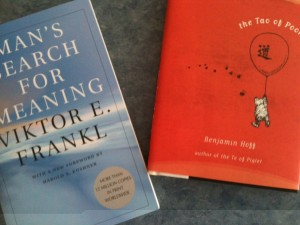 The two books I needed for my online course in happiness.