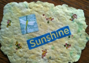 One of the kindness cards I made to create more internal sunshine.