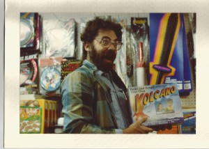 My nerdy husband, happily vamping it up a few decades ago