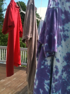 Letting the sun dry our clothes