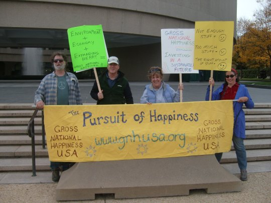 Taking the Gross National Happiness Conference to the Jon Stewart-Stephen Colbert Rally in 2010