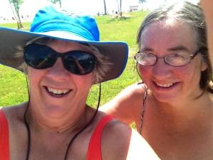Swimming at a state park with my North Carolina friend Lynn!