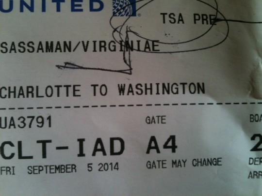 TSA PRE status?  Did someone tell the airline I was writing about them?