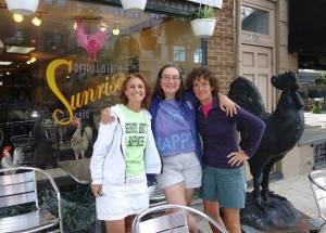 A happy day in 2012 when I got to walk with Paula Francis (left) and Linda Wheatley (right).