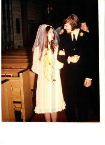 Bob and I, freshly married, November 1970.