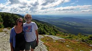 44 years later, on top of the world, Mt. Mansfield, Vermont.