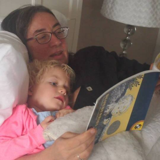 Reading to my granddaughter at nap time? Priceless.