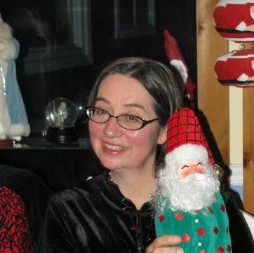 Me and my Yankee Gift Exchange prize a few years ago.